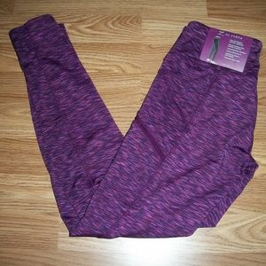 Z byZobha Womens Beet Root Active Leggins Small